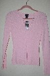 "MBADG #52-222  ""I.N.C International Concepts Pink Knit Button Front Sweater"""