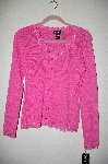"MBADG #52-213  ""Rafaella Pink Fancy Lace Trim Button Front Cardigan"""