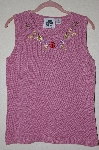 "MBADG #52-187  ""Storybook Knits Limited Edition Mauve Floral Embroidered Tank"""