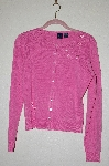 "MBADG #52-173  ""Star City Pink Fancy Embroidered Button Front Sweater"""