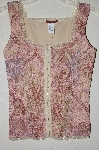 "MBADG #52-154  ""Silvergate Fancy Pink Floral Lace Tank"""
