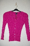 "MBADG #52-097  ""Dolce & Fabuloso Pink Knit Button Front Cardigan"""