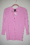 "MBADG #52-070  ""George Pink Knit Button Front Cardigan"""