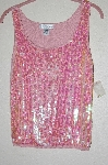 "MBADG #52-476  ""Spiegal Fancy Pink Knit Sequined Tank"""