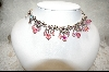 """SOLD""  Sweet Romance Pink Crystal Necklace"