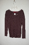 "MBADG #11-093  ""Venini Petite Fancy Brown Knit Sweater"""