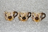 "MBADG #31-081  ""1986 Set Of 3 Hand Painted Pig Coffee Cups"""
