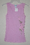 "MBAMG #25-023  ""Janette Pink Floral Embroidered Tank"""