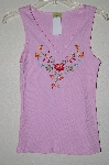 "MBAMG #25-010  ""Jannette Pink Floral Embroidered Tank"""