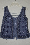 "MBAMG #25-035  ""Just Crusing Blue Rayon Embroidered Tank"""