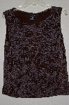 "MBAMG #25-004  ""Citiknits Brown Floral Knit Tank"""