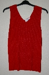 "MBAMG #25-097  ""Louis Dell'Olio Red Stretch Ribbed Sweater Tank"""