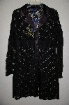 "MBAMG #25-058  ""Susan Graver Black Charmeuse Trimmed Lace Duster"""