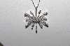 "MBAMG #25-236  ""14K White Gold 1Ct Diamond Snowflake Pendant & Chain"""
