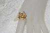 "MBAMG #25-213  ""14K Yellow Gold Diamond Accent Dimensional Rose Ring"""