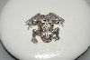 "**MBAMG #25-224   ""15 Year Old Fancy Sterling Frog Pin"""