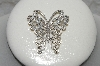 "**MBAMG #25-176 ""Artist Signed Sterling Fancy Butterfly Pin"""