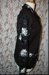 "MBA #7763   ""StoryBook Knits Limited Edition Black Sequined Sweater"