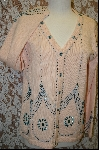 "MBA #7873   ""StoryBook Knits Limited Edition Peach Colored Hand Beaded Sweater"