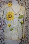 "MBA #7872   ""StoryBook Knits Limited Edition Cream Colored SunFlower Sweater"