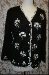 "MBA #7861   ""StoryBook Knits Limited Edition Black Floral Bouquet Sweater"