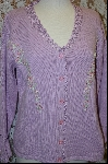 "MBA #7890   ""StoryBook Knits Limited Edition Lavender Floral Embroidered Sweater"
