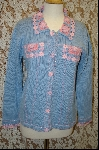 "MBA #7879   ""StoryBook Knits Limited Edition Lt Blue Crochet Accented Sweater"