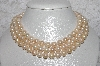 "MBAMG #11-0818  ""14K Cultured Freshwater Pearl Triple Strand Nested  Necklace"""