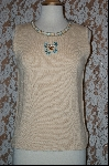 "MBA #7852   ""StoryBook Knits Limited Edition Cream Colored Butterfly Tank"