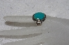 "**MBAMG #11-0872  ""Artist Signed ""JB"" Sterling Turquoise Ring"""