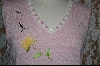 "MBA #7843  ""StoryBook Knits Limited Edition Pink & White Floral Tank W/ Bumble Bee"