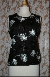 "MBA #7835  ""StoryBook Knits Limited Edition Black Sequined Tank"